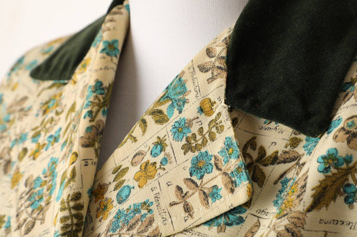 A 1950s Botanical Print Coat - Greystones Antiques
