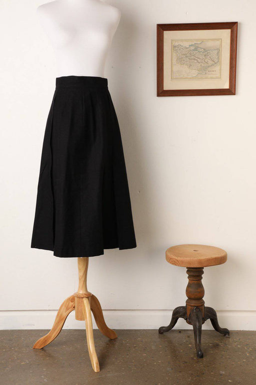 A Black Synonyme 100% Wool Skirt - Greystones Antiques