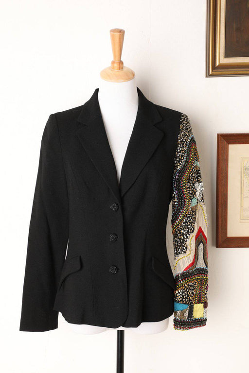A Christian Lacroix Blazer with Embroidered Sleeve - Greystones Antiques