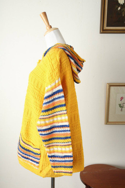 A High Quality Knitted Cardigan with Hood - Greystones Antiques