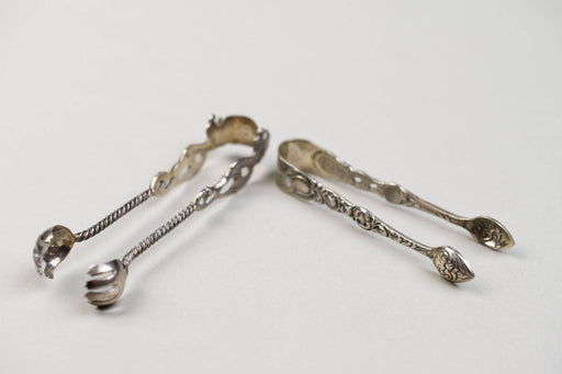 A Pair of Ornate Vintage Sugar Tongs - Greystones Antiques
