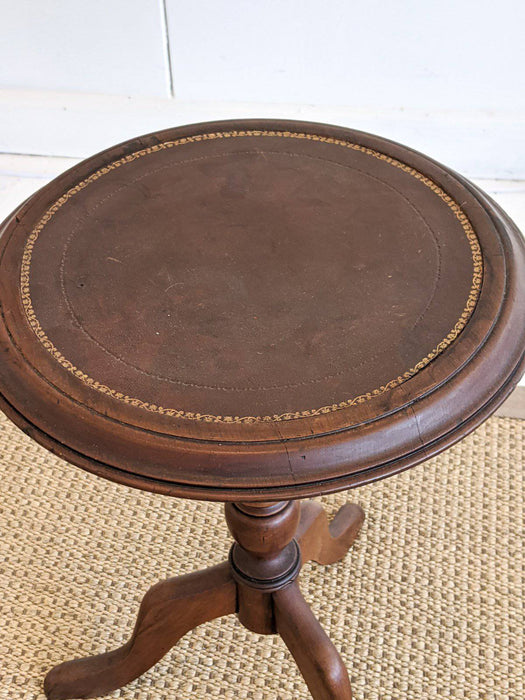 An Australian Leather Top Wine Table c.1960 - Greystones Antiques