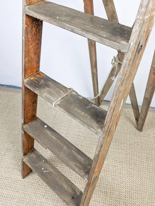A Vintage Wooden Ladder - Greystones Antiques