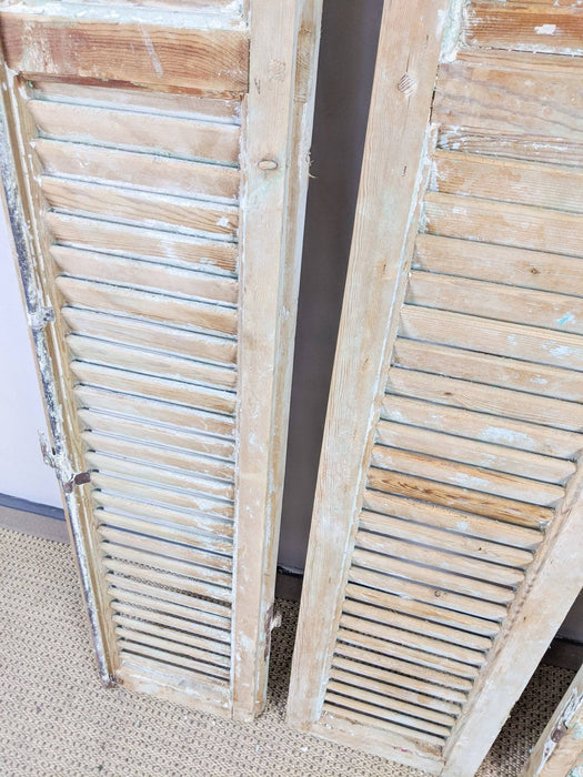A Set of Four Antique Plantation Shutters - Greystones Antiques