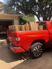 SnapIt Boards orders are loaded in the back of a pick up truck ready for shipping