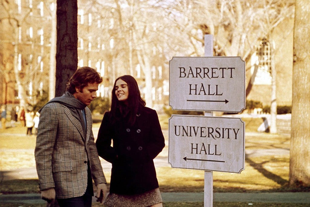 This iconic scene from 'Love Story' (1970) starring Ali MacGraw and Ryan O'Neal is inspiring on so many levels