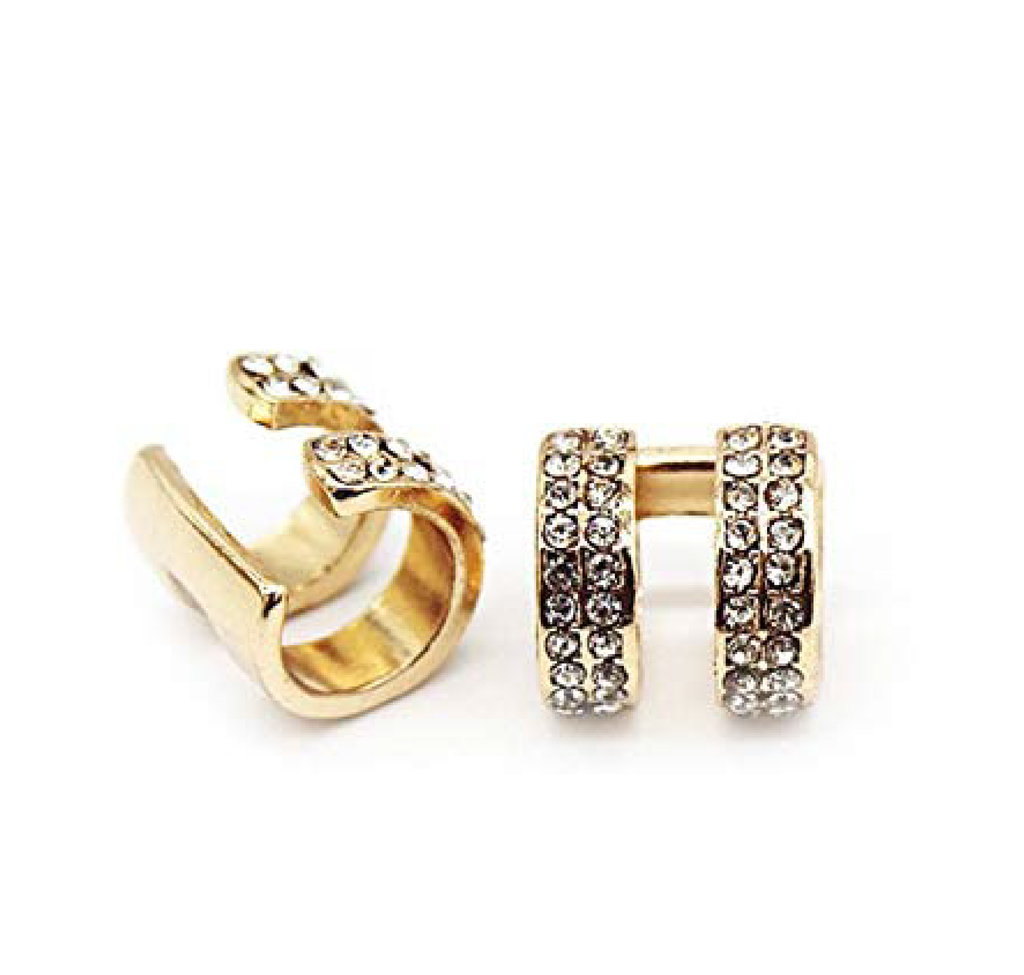 zirconia double ear cuff
