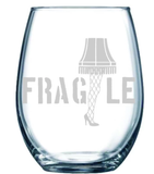A Christmas Story Leg Lamp Stemless Wine Glass