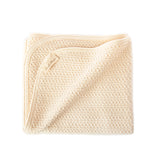 Cherub's Blanket Organic Cotton Crib Blanket with Soft Waffle Texture  is a Great Value for a high quality organic blanket. One of our most popular baby shower gift ideas.