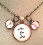 Frageelay A Christmas Story Necklace with Leg Lamp Charm and Bunny Charm