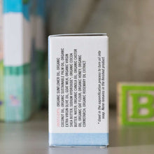 Load image into Gallery viewer, Baby Me Organic Baby Care Bundle is a great gift set for a new baby. Milk and Honey Baby Soap is included - side of box shown. Available at www.cherubsblanket.com
