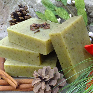Chagrin Valley Soap and Salve Mistletoe Soap is a seasonal favorite. Rich in natural ingredients and organic oils. Available at www.cherubsblanket.com