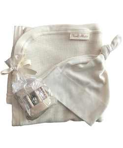 Cherub's Blanket Organic Cotton Newborn Blanket Gift Set