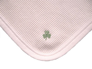 Luck O' The Irish Tag Along Mini Blanket with Shamrock