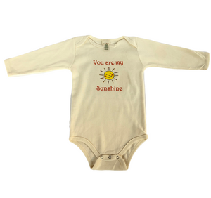Long sleeved organic cotton baby onesies