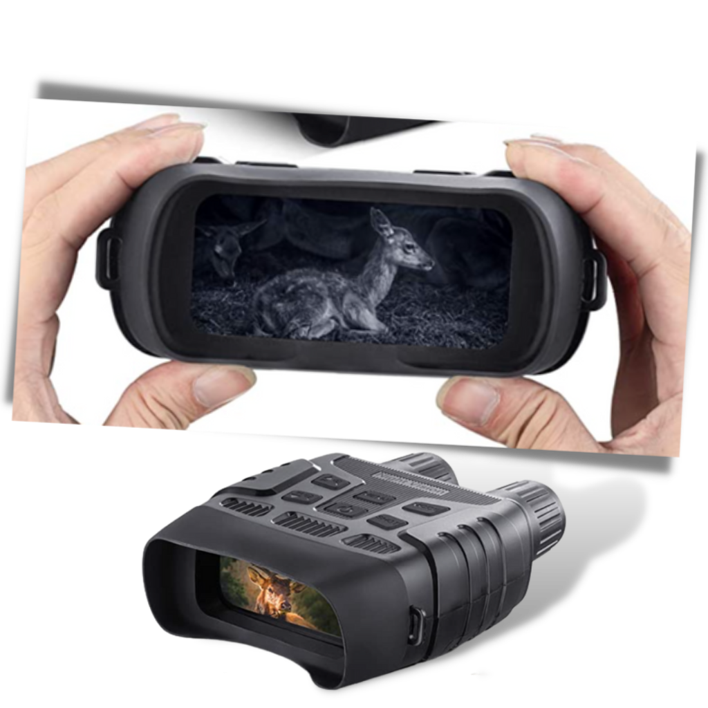 Night Vision Binoculars - 2.3 inch screen with Playback modes - Ozerty