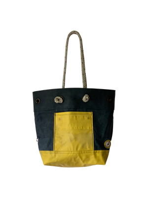 Rugged Seas & STERNLINES Canvas Bib Tote (Navy/ Yellow)