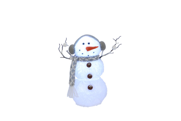32 Cm Battery Operated Colour Changing Snowman