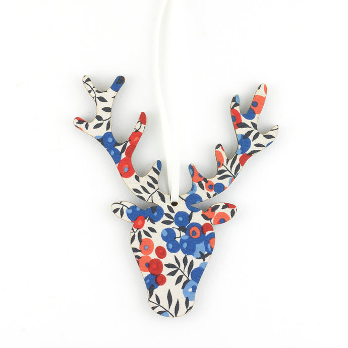 Decoration Liberty Wilt. Berry Blue Stag Head