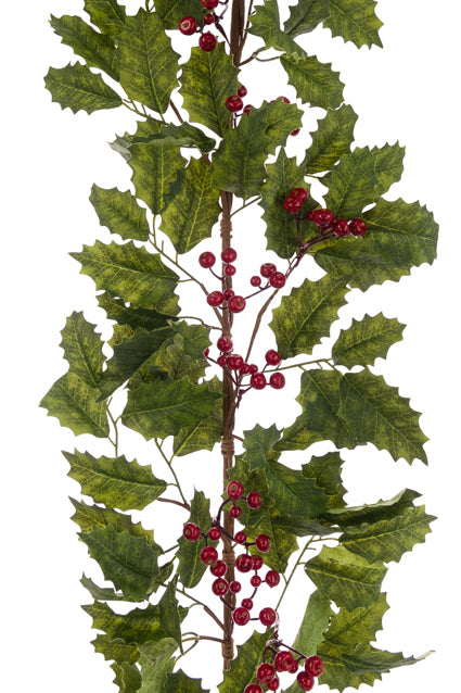 Holly Berry Garland 165cm
