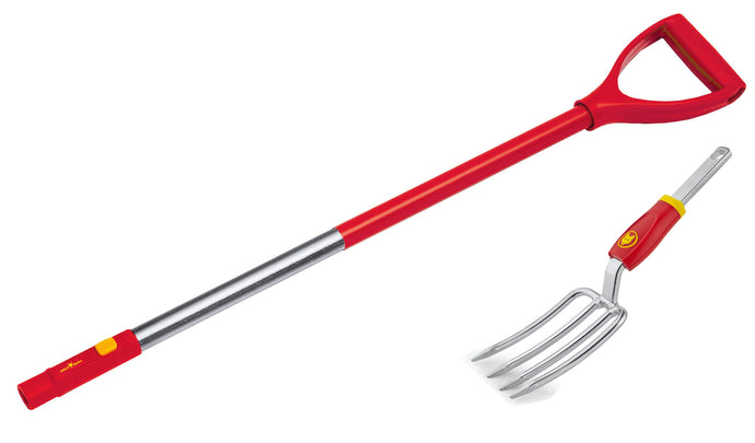 Wolf-Garten MC LUGM Hand Fork And 85 Cm ZMAD/LUGM D-Grip Handle, Multicolored
