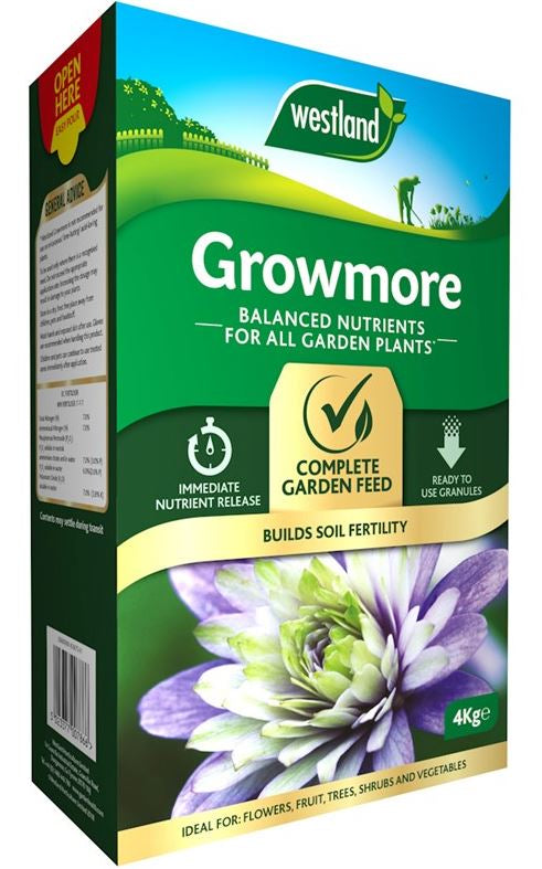 Westland Growmore Balanced Garden Fertiliser For All Plants, 4 kg
