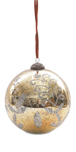 Giant Antique Gold Bauble