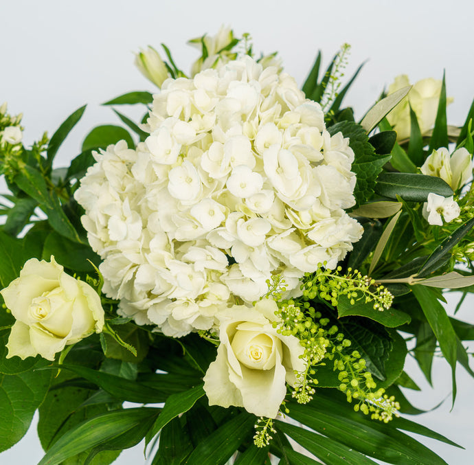 Floral Bouquet - White And Greens
