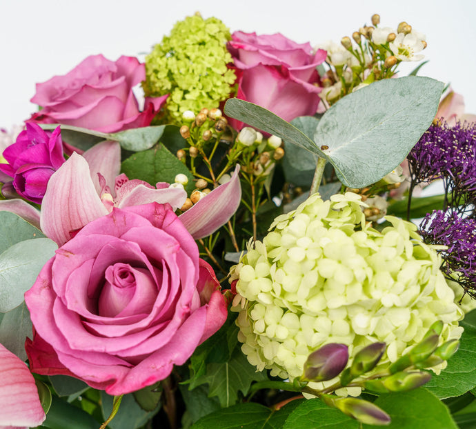 Floral Bouquet - Pinks, Whites, Purples And Greens