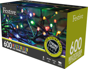 600 multifunction timer string lights -multicolour