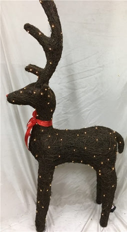 100cm Brushwood Reindeer W / Outdoor LED Lights