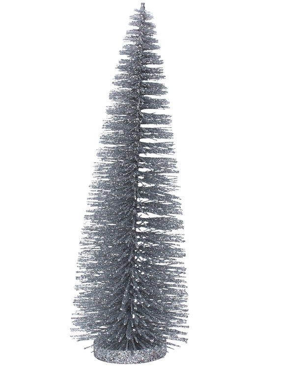 Silver Bristle Tree Ornament