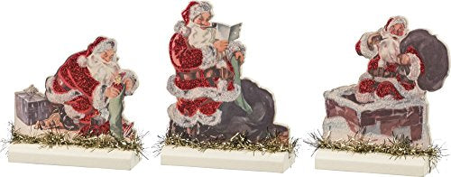 Stand Up Set of 3 - Santas SIZE: 3.50