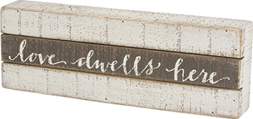 Love Dwells Here Slatted Sign - 13