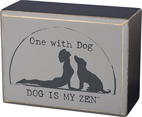 Primitives by Kathy Box Sign - One with Dog Size: 4