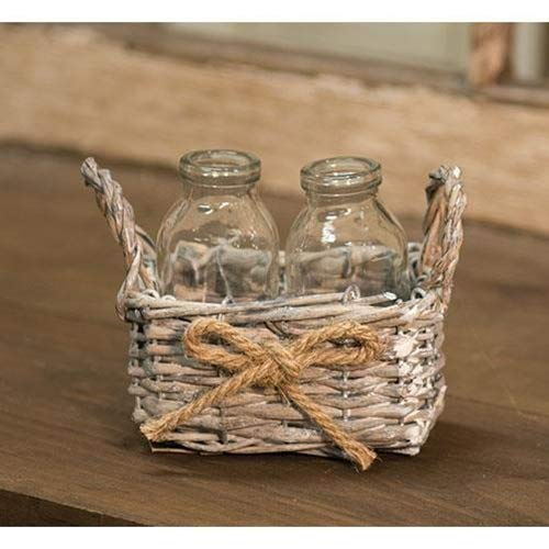 2 Bottles w/Willow Basket