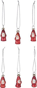 Primitives by Kathy Mini Glass Christmas Ornaments - Santa
