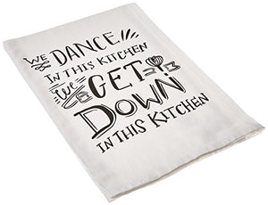 Primitives by Kathy We Dance Tea Towel, 28-Inch by 28-Inch