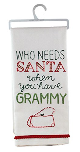 Primitives by Kathy Who Needs Santa When You Have Grammy Decorative Cotton Towel