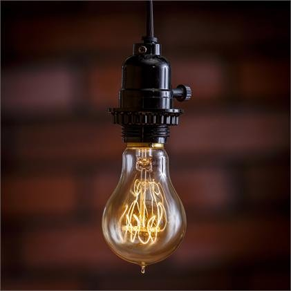 Decorative Edison Bulb - 40Watt - E27 Base-Rouded Vintage Bulb