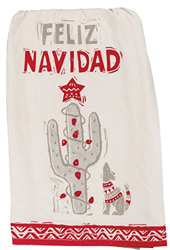 Primitives by Kathy Christmas Kitchen Dish Towel Set, Feliz Navidad