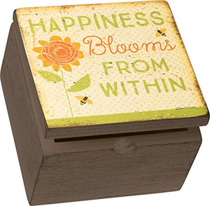 Primitives by Kathy Box Sign Box Happiness Blooms From Within