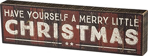 Primitives by Kathy Distressed Box Sign, Merry Little