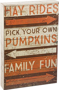 Primitives by Kathy Harvest Family Fun Box Sign