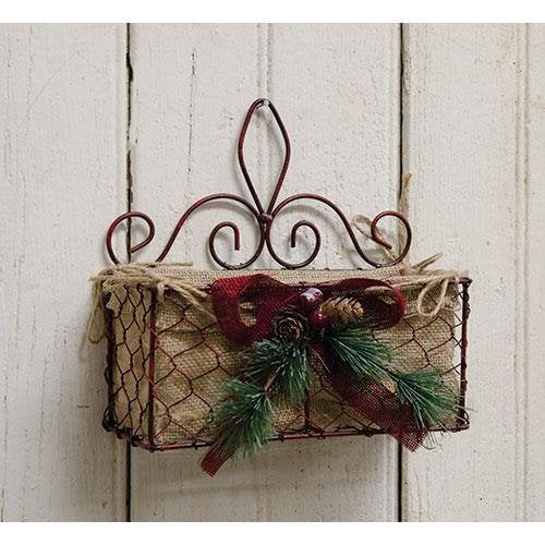 Christmas Chicken Wire Basket