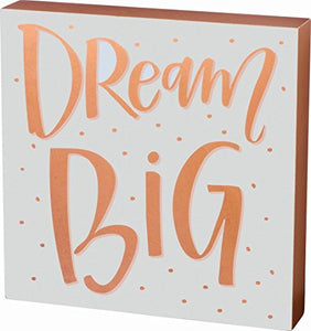 "Primitives By Kathy Box Sign - ""Dream Big"""