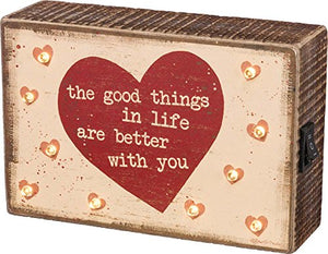 Primitives by Kathy Lighted Box Sign-The Good Things in Life