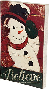 Primitives by Kathy Dan DiPaolo 12 inches x 19 inches Box Sign - Believe
