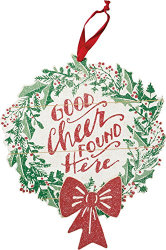 Primitives by Kathy Hand Lettered Good Cheer Christmas Wreath