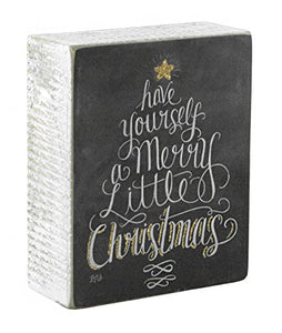 Have Yourself a Merry Little Christmas Wooden Box Sign
